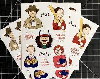 Stranger Things Fan Art Sticker Sheet