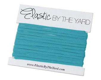 TURQUOISE Skinny Elastic for Baby Headbands 1/8 inch - 5 yards