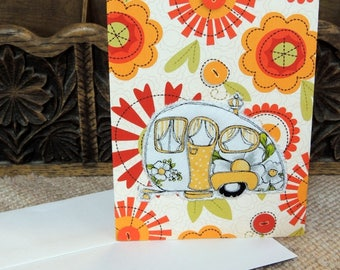 Camper Quilted Greeting Card