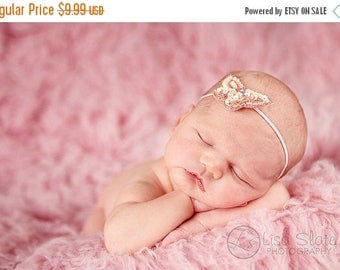 12% off Baby headband, newborn headband, adult headband, child headband and photography prop The single sprinkled- sequin butterfly  headban