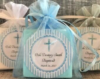 Boy Baptism Soap Favors:  Baby Shower Favors, Baptism Favors, Baby Sprinkle Favors, Boy Baptism Favors, Christening Favors, Boy Christening