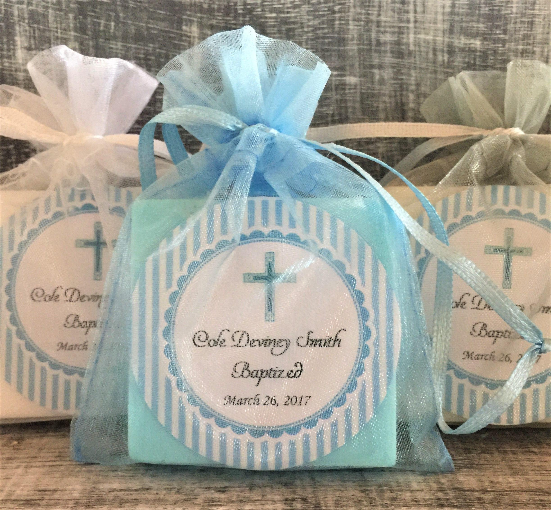 Boy Baptism Soap Favors: Baby Shower Favors Baptism Favors