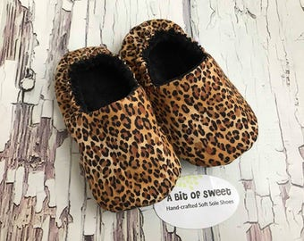 Ready to Ship Leopard Print Soft Sole Shoes