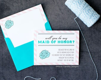 Special Day Will You Be My Maid of Honor Card | Maid of Honour | Will You Be My Bridesmaid | How to Ask Maid of Honor | Wedding Invitations