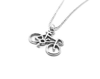 Sterling Silver Bicycle Necklace, Bike Necklace, Bicycle Jewelry, Bike Jewelry, Bicycle Pendant, Bike Pendant,Sterling Silver Jewelry