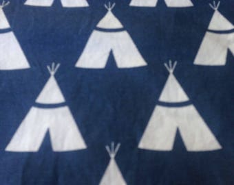 Teepee canal Navy- Duck Cloth - Home Decor - 1 yard