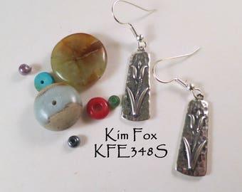 Tulip Earrings in Sterling Silver designed by Kim Fox