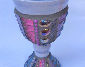 Mosaic Chalice Goblet Lilac
