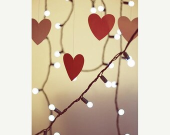 Love Art: light in our hearts Fine Art Photograph, Still life photography love art hearts photo, Vertical Print red hearts Art Print