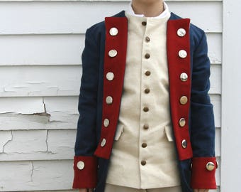 Revolutionary War Soldier Costume - READY TO SHIP - Boy's Size L (12-14) - Colonial Costume - Patriot