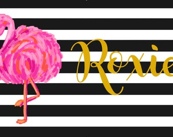 Personalized Placemats, Monogrammed Placemats, Laminated Placemats, Design your Own Placemat, Kids Placemat, Pet Placemat, Flamingo Placemat