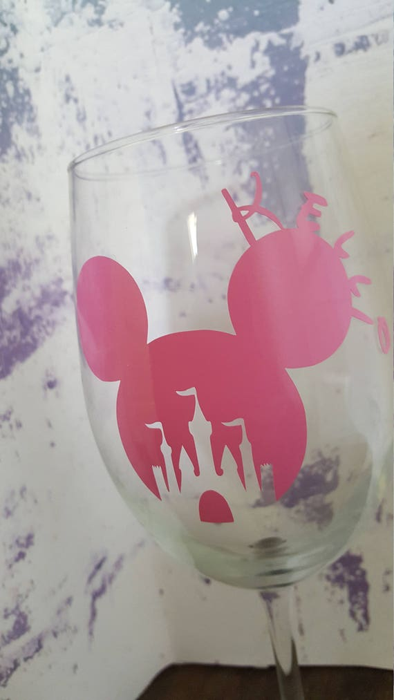 Customized Vinyl Sticker Disney Princess Castle Mickey Ears