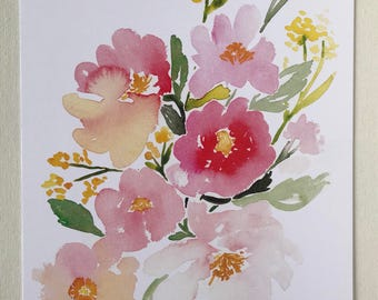 "Peony"" watercolor print"