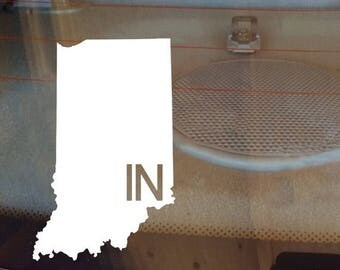 Indiana Car Decal, State Decal, Indiana Decal, Laptop Sticker, Laptop Decal, Car Sticker, Car Decal, Vinyl Decal, IN, Window Sticker