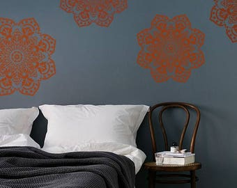 STENCIL for Walls - Mandala No. 1 - 3 SIZES - Round stencil for Walls - Reusable Modern Wall Decor