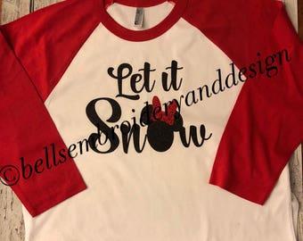 Let It Snow Minnie Shirt