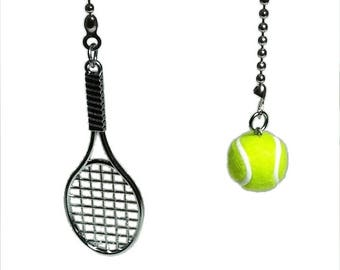 Tennis Racquet U0026 Ball Ceiling Fan Pull Set, Tennis Decor, Sports Decor,  Tennis