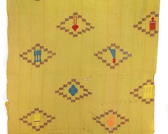 Ewe Cloth with Embroidered Motifs Ghana Togo African Art 87898