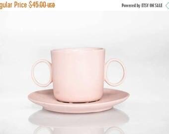 SALE Doppio espresso cup in delicate pink, modern tableware from Ende ceramics