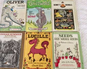 I Can Read Vintage Children's Books, Lot of 6 Books, instant collection, Science I Can Read Book, I Can Read History Book