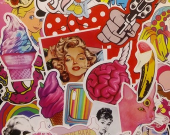 Girlie Mixed Media Stickers (10)