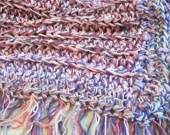Pink and Purple Crochet Blanket - Crochet Afghan - crochet blanket - Baby Blanket - Adult Throw Blanket - Lap Blanket  - Throw - Blanket