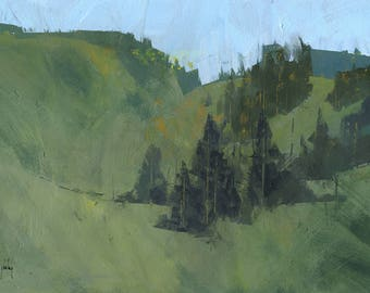 Abstract landscape painting - Radnor walk