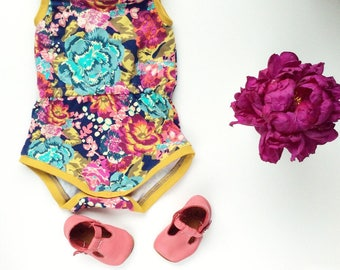 Baby girl romper Boho baby clothes Newborn girl outfit Coming home outfit Baby girl summer clothes Baby romper Floral baby romper Hipster
