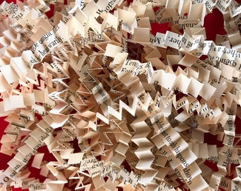 Bookish Crinkle Paper | Vintage Book Paper Shred / Gift Shred for Baskets, Boxes or Bags | literary event, book lovers, romantic, weddings