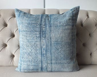 "22""By22, Vintage Batik,batik Handwoven hemp,Hmong textiles,Scatter cushions and Pillows, ,"