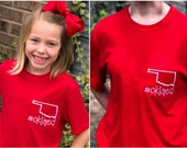 Oklahoma Teacher Education Shirts - Red for Ed Tshirts - Teacher Walkout - Youth XS thru Adult 5XL - Toddler Sizes Available