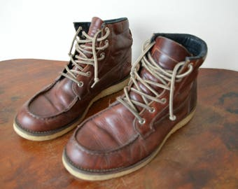 Ankle Boots Men Size US 10 1/2 EU 44 Vintage Reddish Brown Chukka Boots