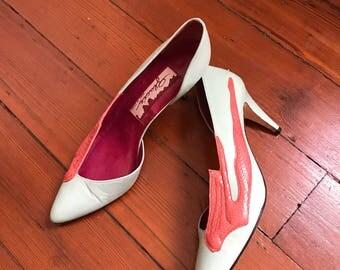Vintage 80's Art Deco Art to Wear Shoes 9 N