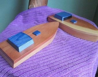 Wooden toy boat the Jo Ann