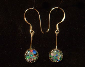 OPAL EARRINGS bright colors sterling silver