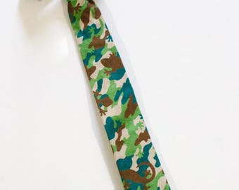 Boys Camo Pretied Necktie Boys Formal Wear Boys Clothing Wedding Outfit Tie for Boys Ring Bearer Outfit Clothes for Ring Bearers