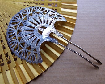 Late Victorian hair comb Spanish style hair accessory headdress headpiece decorative comb hair ornament