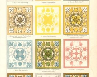 1896 Printmaking, Lithography Printing - Steps of Printing Original Antique Chromolithograph