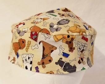 Dogs and Dog Bones Kippah Yarmulke Reversible Washable Cotton