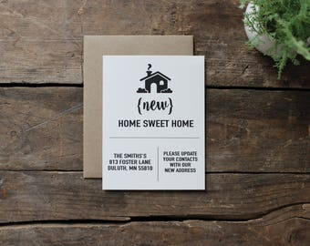 Change of Address Cards, Rustic and Simple, Moving Cards, New Home, Address Book Change - You choose the number needed