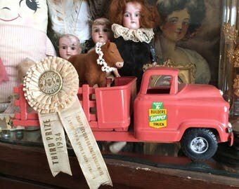 Ole Buddy L Had Me In Mind When He Made This Vintage 1950s Salmon Pink Metal Supply Farm Truck