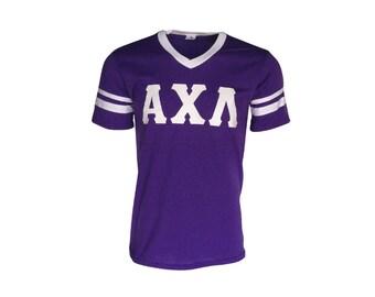 Alpha Chi Lambda - Stripe Sleeve T-shirt Jersey