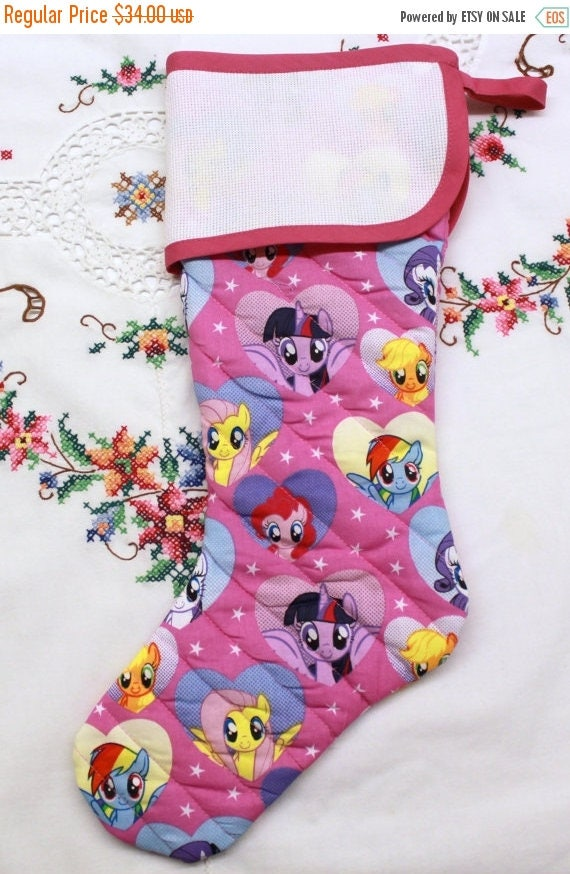 SALE My Little Pony Stitchable Quilted Cross stitch Christmas Stocking