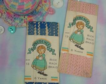 Vintage 2 Packages Prudence Baby Rick Rack Braid Darling Graphics