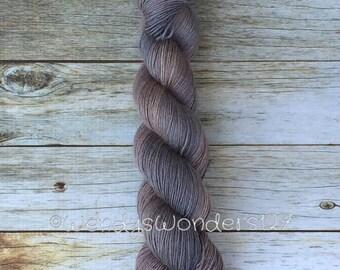 Hand Dyed Yarn, Gradient Yarn, Fingering Weight Yarn, Camel/Silk