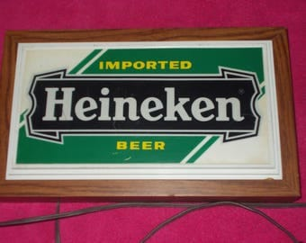 Sign ( lighted Heineken beer sign )