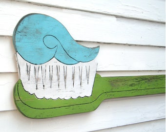 Toothbrush Wall Decor Dentist Office Sign Toothbrush Sign