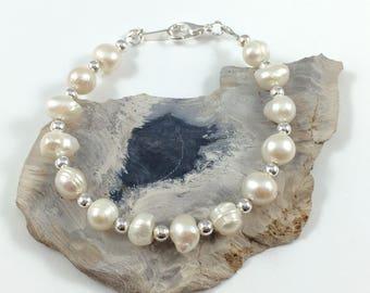 Freshwater Pearl Bracelet, Freshwater Pearl Jewelry, Pearl Jewelry, June Birthstone