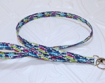 Lanyard - Fabric Lanyard - Teacher Lanyard  - Badge Holder - Key Lanyard - Cute Lanyard