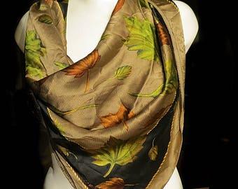 Large Anne Klein Vintage Silk Scarf  34 x 35  #163